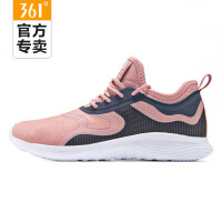 【超品预估价:47】361度年春季新款女子休闲鞋网面拼接复古跑步鞋 581816708