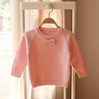 女童装加绒毛衣女宝宝套头针织圆领打底衫婴儿童韩版0-1-2岁4潮