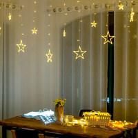 房间装饰彩灯led网红星星灯满天星窗帘灯浪漫圣诞创意ins卧室网红