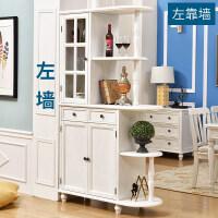 简美式隔断鞋柜玄关柜全实木白色双面入户进门厅柜家用 整装