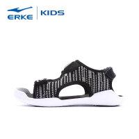 【2件3折到手价:65.7元】鸿星尔克(ERKE)男童鞋儿童凉鞋 男女中大童魔术贴运动凉鞋轻便透气镂空儿童休闲鞋