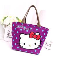 新款防水帆布便当包饭盒袋子卡通小拎包男女学生儿童手提包