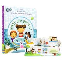 【中商原版】细胞是什么? 英文原版 What are Germs? 纸板书 翻翻书 3-6岁 儿童科普 生物知识 绘本