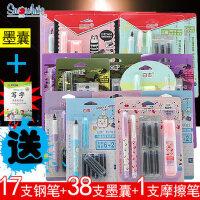 白雪墨囊钢笔 小学生钢笔5套装 小学生可擦可换囊练字钢笔组合