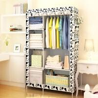 防尘简易不锈钢加固型衣柜简易折叠收纳简易衣柜衣橱大号