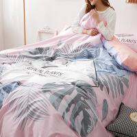 商场同款棉四件套纯棉韩版大版印花床单被套1.5m学生单人床上套件