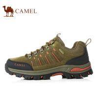 camel骆驼户外登山鞋 男女防滑减震户外鞋低帮系带牛皮徒步鞋 情侣款新款
