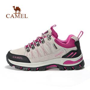 【每满200减100】camel骆驼户外情侣款徒步鞋 男女耐磨减震登山 徒步鞋