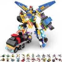 益智积木玩具 变形金刚积变战队TS12101可合体超级机器人