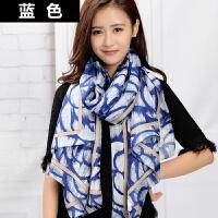 丝巾女韩版春秋季长款冬季时尚围巾百搭披肩两用纱巾