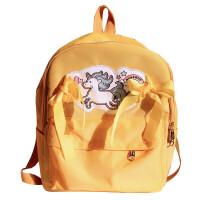 脸蛋少女软妹双肩包女可爱独角兽日系原宿书包中学生旅行背包