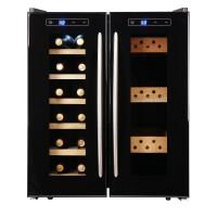 红酒柜双温双控24支恒温红酒柜恒湿雪茄柜冰吧家用柜冷藏柜