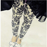 冬款黑色保暖裤女款韩版潮裤 户外 加绒冬季打底裤女士