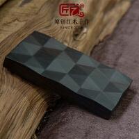 木制名片盒木质名片夹 男式商务女式紫檀生日礼物