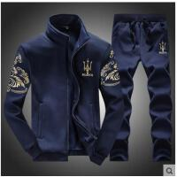 运动休闲户外套装男大码运动服套装男开衫修身运动装两件套运动服