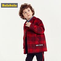 【6.8超品 3件3折价:149.4】巴拉巴拉儿童呢子外套男宝宝秋冬新款童装加厚保暖羊毛呢大衣