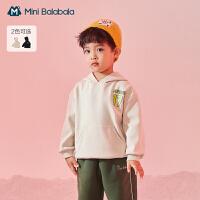 迷你巴拉巴拉男童针织卫衣2020冬季儿童保暖厚实弹力潮酷运动卫衣