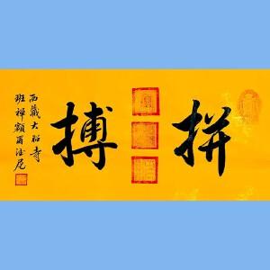 中国佛教协会副会长,中国佛教协会西藏分会第十一届理事会会长十三届全国政协委员班禅额尔德尼确吉杰布(拼搏