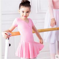表演芭蕾舞裙短袖练功服演出服 儿童舞蹈服装女童练功服