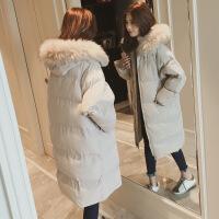 反季羽绒加厚外套女冬面包服棉袄2018韩版中长过膝bf棉衣