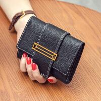 钱包女短款皮多功能折叠小钱包欧美女士皮夹子皮