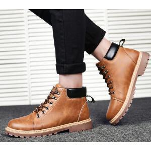 【硬汉-爆品】罗兰船长 休闲鞋男时尚马丁靴英伦工装靴 D