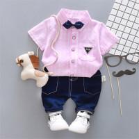 儿童装潮衣服1男宝宝春装套装2韩版运动3岁男童卫衣三件套