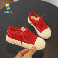 【2.5折价:51.5】芭芭鸭儿童帆布鞋男童小白鞋女童布鞋休闲鞋板鞋2019春季新款球鞋