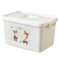 家用塑料收纳箱整理箱有盖大小号手提杂物储物箱玩具衣物收纳盒子收纳用品