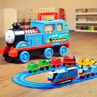 儿童电动声光托马斯轨道车小火车套装益智男孩玩具合金汽车3-6岁