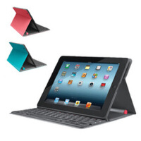 Logitech/罗技 iPad2/new iPad太阳能无线蓝牙键盘 折叠保护套 全国联保 全新盒装正品