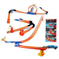 【三种款式 随意发一款】美泰风火轮Hotwheels三合一轨道火辣小跑车男孩轨道玩具BGJ08