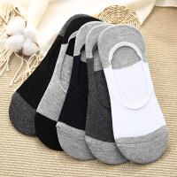 袜子男士秋冬季棉袜船袜低帮浅口隐形船袜硅胶防滑运动防臭短袜男