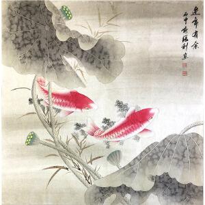 张利《花鸟30》著名画家