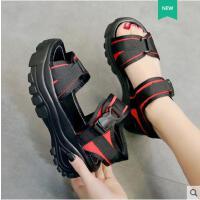 罗马沙滩鞋运动凉鞋女ins潮时尚厚底百搭增高松糕鞋