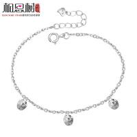 相思树 实心苹果手链 韩版圣诞节女友礼物 银饰品925纯银手链 SL060