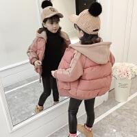 女童2017棉衣新款装韩版潮洋气棉袄小女孩短款面包服羽绒棉外套