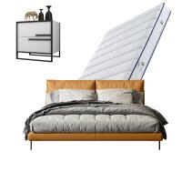 北�W床�^�哟仓髋P�W�t�p人床1.8米�F代��s婚床1.5 +床�^柜*2+乳�z床�|