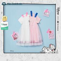 [斑点狗IP]迷你巴拉巴拉女童连衣裙2021春甜美舒适儿童连衣裙