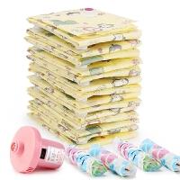 16丝真空压缩袋收纳袋特大号棉被子送电泵衣物衣服加厚抽气真空袋 大号(100*80cm)