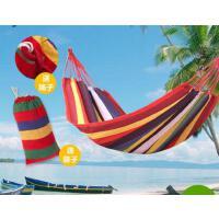 结实耐磨耐用户外室内秋千舒适柔软轻盈便携  单双人加厚帆布吊床