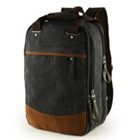 帆布包男包两用背包学生书包休闲双肩包旅行手提包