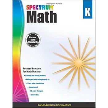 英文原版 数学练习册,幼儿园 Spectrum Math Workbook, Grade K