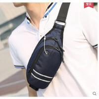 韩版男包休闲音乐包单肩包胸包男学生男士腰包 斜挎包男