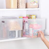 橱柜收纳箱抽屉式冰箱储物盒厨房食品水果塑料无盖收纳盒