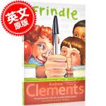 现货 粉灵豆 我们叫它粉灵豆 英文原版 Frindle 儿童文学读物 美国经典校园小说 安德鲁克莱门斯代表作 Andr