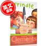 现货 粉灵豆 我们叫它粉灵豆 英文原版 Frindle 儿童文学读物 美国经典校园小说 安德鲁克莱门斯代表作 Andrew Clements