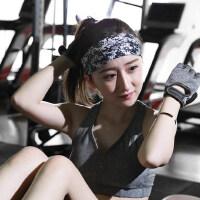 时尚弹力花纱吸汗带 运动发带头带防滑宽边 头箍 户外跑步男女健身瑜伽发带