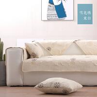 家居日用北欧沙发垫布艺四季通用坐垫子防滑简约冬季皮沙发防尘套罩靠背巾