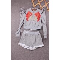 跳楼价anita学院风少女气质套头长袖卫衣短裤两件套装Q19-d97079